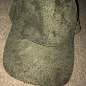 Green suede hat